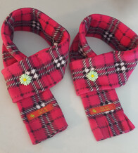 Fleece Scarf - Cerise Check