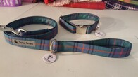 Clan Tartan Collar & Lead set - Shaw Ancient