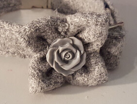 Harris Tweed Collar Accessories - Grey