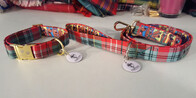 Clan Tartan Collar & Lead set - Caledonia