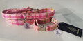 Harris Tweed Collar & Lead set - Pink Check
