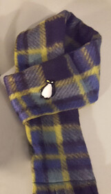 Fleece Scarf - Purple & Yellow Check
