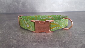Polycotton Collar Paisley - Lime Green