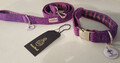 Harris Tweed Collar & Lead set - Purple
