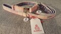 Harris Tweed Collar & Lead set - Ice Cream Sundae Check