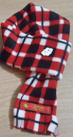 Fleece Scarf - Red, Black & White Check