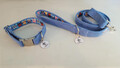 Harris Tweed Collar & Lead set - Pale Blue