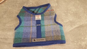 Harris Tweed Vest Harness Blue Check