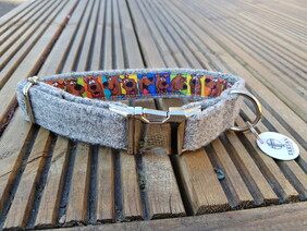 Harris Tweed Collar - Grey